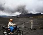 Mount Bromo's Volcanic Ash