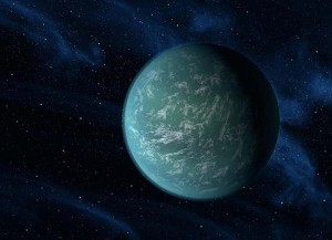 Artist's version … Kepler 22-b. (source: smh.com.au)