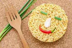 Smile emotion noodles.